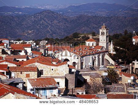 Town rooftops, Pano Lefkara, Cyprus.