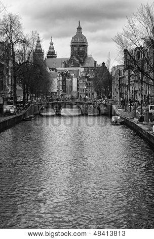 City Center Of Amsterdam, Holland