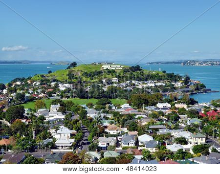 View over suburban Devonport towards North Head