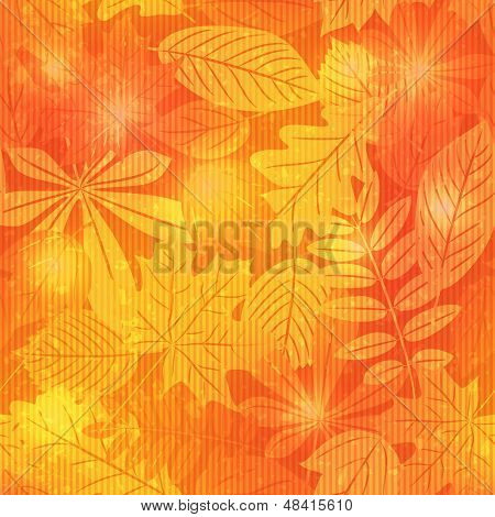 Bright autumn seamless pattern