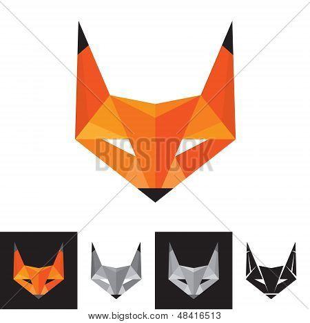 Fox Logo - símbolo geométrico