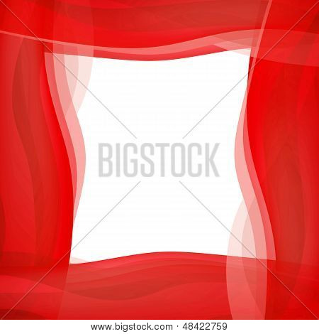Red Wavy Graphic Border
