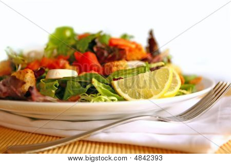 Healthy Delicious Salad On A Plate With High Depth Of Field