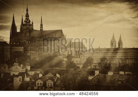 Old Photo Of Prague