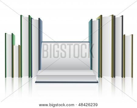 Several Books Isolated On White Background.