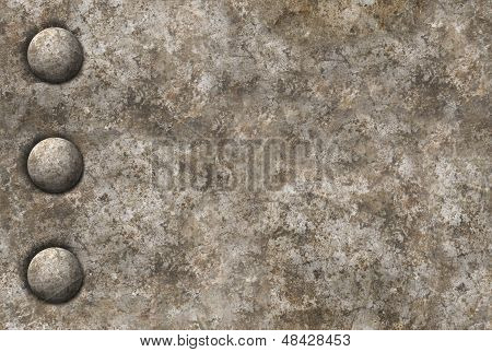 Distressed Metal Surface Texture With A Row Of Rivets Seamless Tileable