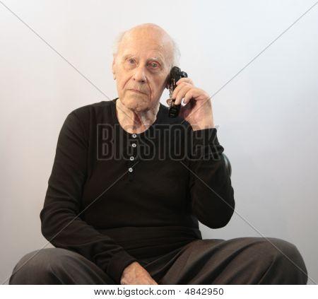 Senior On Cordless Phone