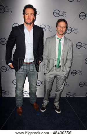 LOS ANGELES - JUL 24:  Mark-Paul Gosselaar, Breckin Meyer arrives at TNT's 25th Anniversary Party at the Beverly Hilton Hotel on July 24, 2013 in Beverly Hills, CA