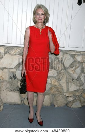 LOS ANGELES - JUL 25:  Constance Towers arrives at the General Hospital Fan Club Kickoff Party at the Sportsman's Lodge on July 25, 2013 in Studio City, CA