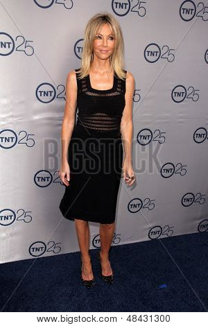 LOS ANGELES - JUL 24:  Heather Locklear arrives at TNT's 25th Anniversary Party at the Beverly Hilton Hotel on July 24, 2013 in Beverly Hills, CA