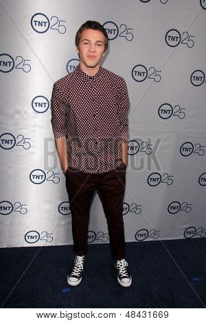 LOS ANGELES - JUL 24:  Connor Jessup arrives at TNT's 25th Anniversary Party at the Beverly Hilton Hotel on July 24, 2013 in Beverly Hills, CA