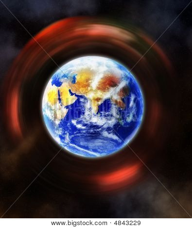 The Earth, Our Home Planet Terra, Inside A Space Vortex