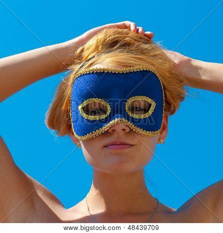 Woman Looking Closeup