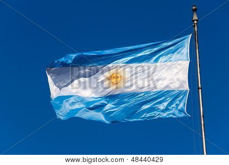 The Argentinean flag
