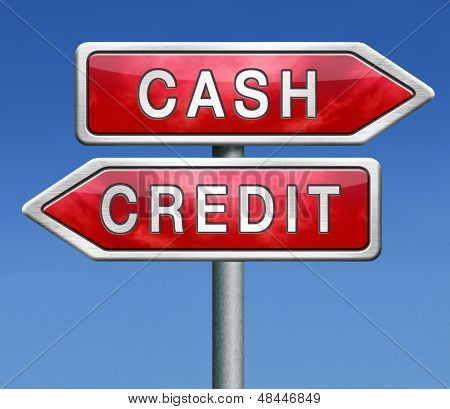 cash or credit money flow or transfer