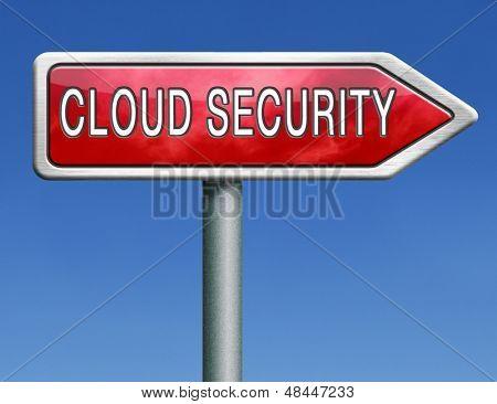 nuvem de segurança nublando segurança de plataforma de computador para privacidade e proteção para os hackers