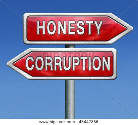 corrupt or honest corruption or honesty
