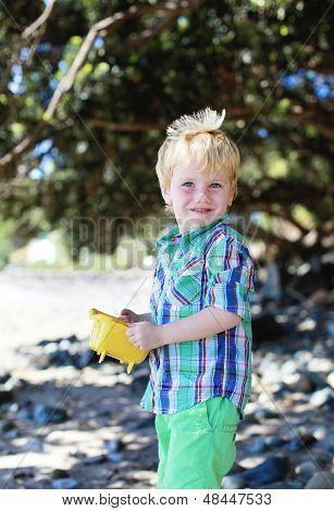 Boy At The Beach.