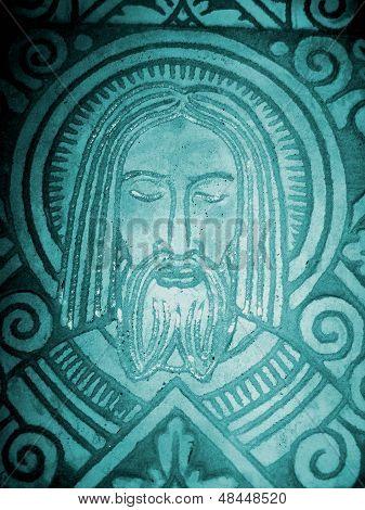 Jesus Figure in stone art