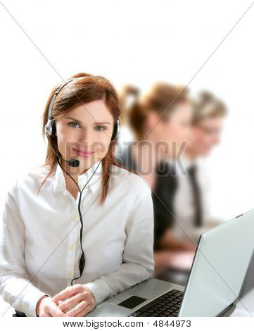 Business Helpdesk With Beautiful Woman