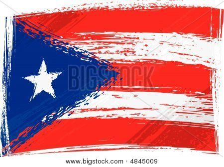 Grunge Puerto Rico Flag