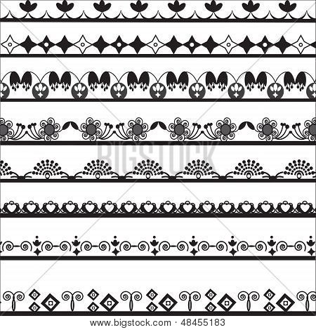 Collection Of Different Lace For Design