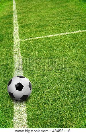 A Ball On Football Field