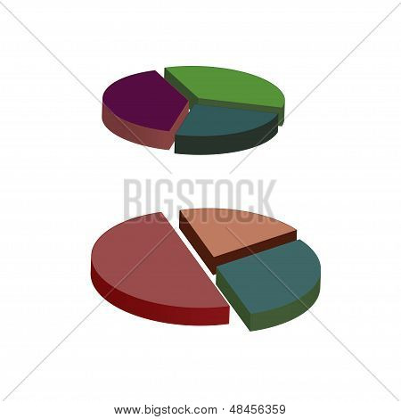 Set Of Pie Graphic Chart