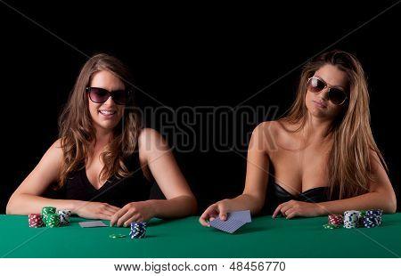 Women Playing Poker