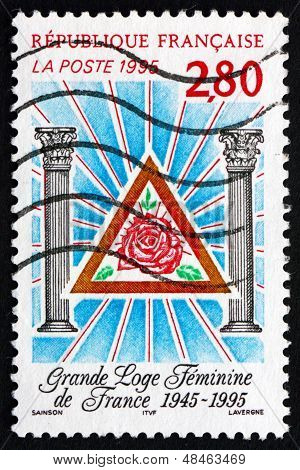 Postage Stamp France 1995 Women's Grand Masonic Lodge