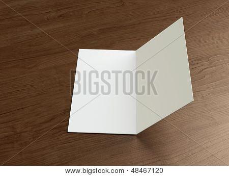 Leaflet Inside Presentation Wood
