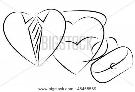 mr and mrs hearth together, icon vector
