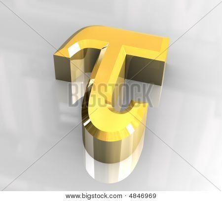 Tau Symbol In Gold