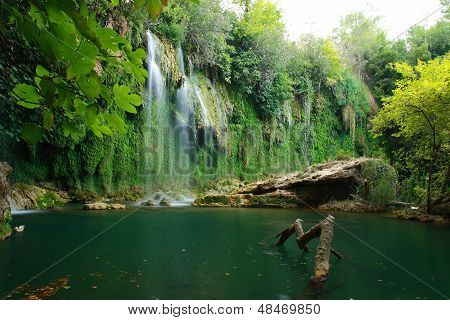 Waterfall View In Kursunlu Antalya