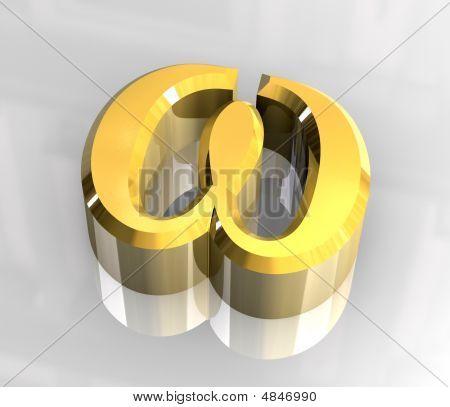 Omega Symbol In Gold