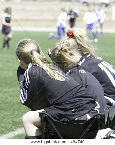 Teen Girls Soccer Benchwarmers