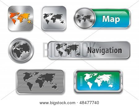 World Map Web Elements