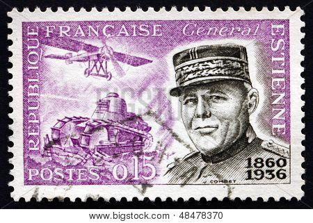 Postage Stamp France 1960 General Jean Baptiste Eugene Estienne