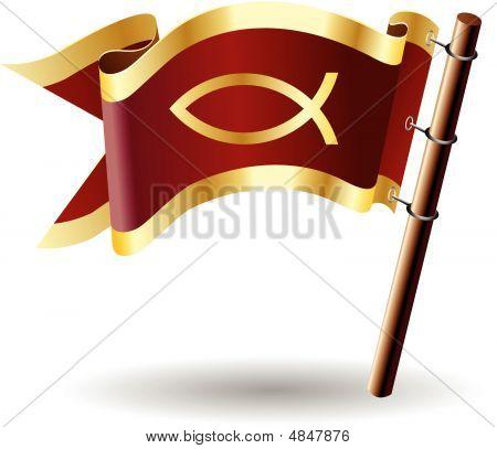 Royal-flag-faith-jesus-fish