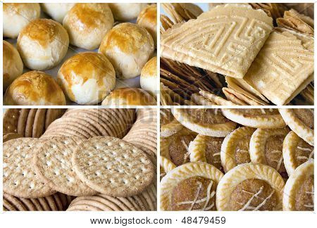 Southeast Asian Cookies And Pastry Collage