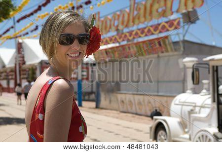 Girl At The Spanish Fair