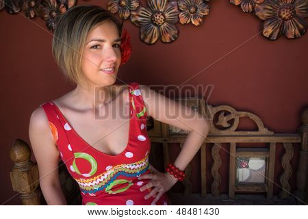 Woman Dressed Flamenco