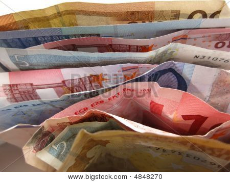 Euro Notes In Close Up
