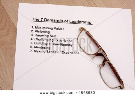 Regla siete de liderazgo