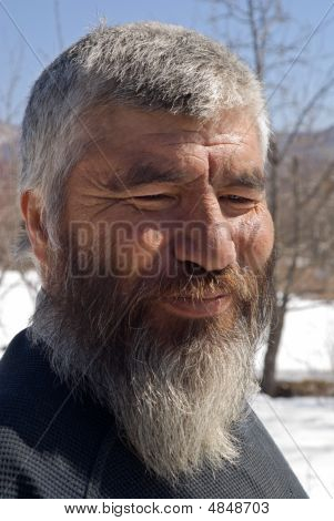Old Mongoloid Man