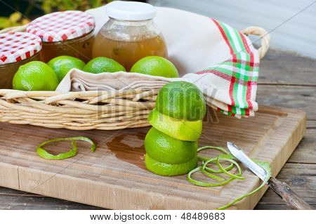 Homemade Lime Jam With Fresh Limes
