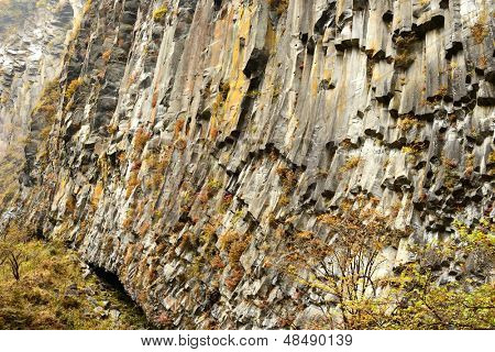 Cliff wall at Nikko National Park in Japan.