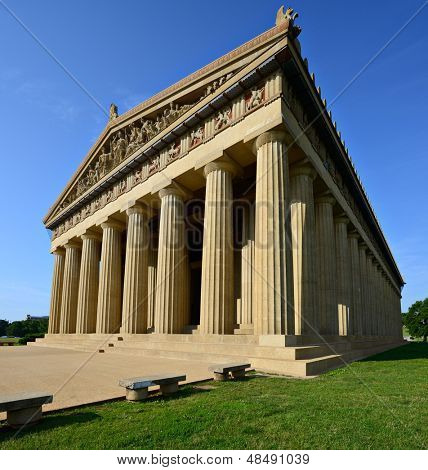 Parthenon Replica at Centennial Park in Nashville, Tennessee, USA.