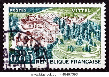 Postage Stamp France 1963 Therme Vittel, Vosges, Lorraine
