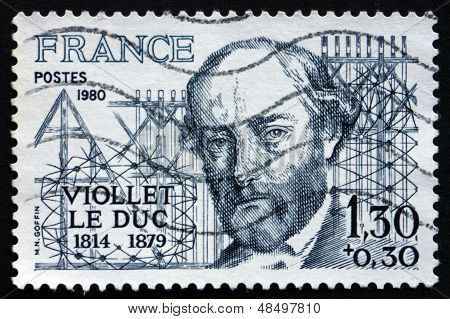 Postage Stamp France 1980 Eugene Viollet Le Duc, Architect